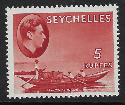 SEYCHELLES :1938 5r red,chalky paper  SG 149 MNH