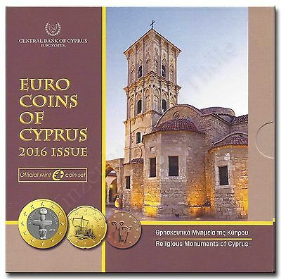 Cyprus 2016: KMS (1 Cent - Brilliant uncirculated with Standard coinage Folder