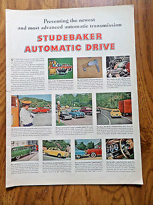 1950 Studebaker Ad Presenting Newest Most Advanced Automatic Transmission