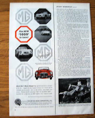 1959 MG Ad  The New 1600 is Here