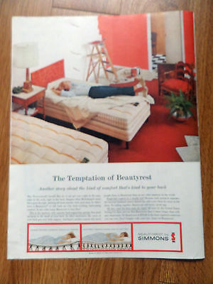 1960 Beautyrest by Simmons Ad  After Painting