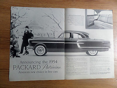 1954 Packard Patrician Ad  Announcing