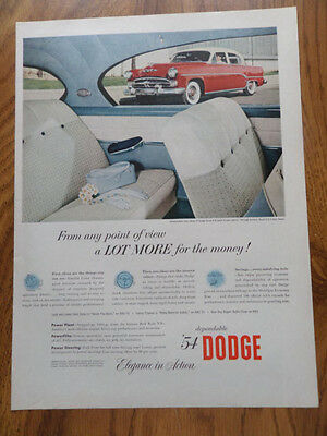 1954 Dodge Royal Sport Coupe Ad