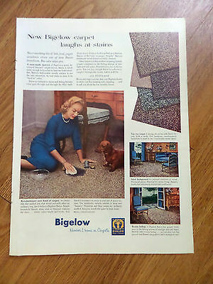 1956  Bigelow Rugs & Carpets Ad   Dachshund Dog