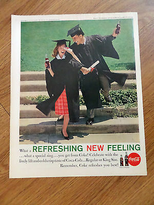 1961 Coke Coca-Cola Ad Graduation Theme