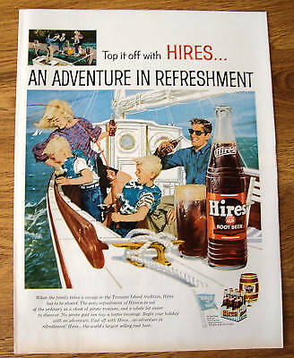 1959 Hires Root Beer Ad  Family Adventure in Sailing