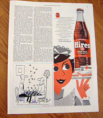 1954 Hires Root Beer Ad Real Oldtime Since 1876