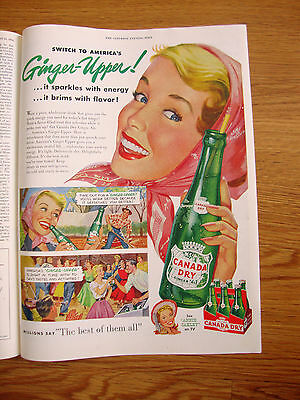 1954 Canada Dry Soda Pop Drink Ad  Switch to America's Ginger-Upper