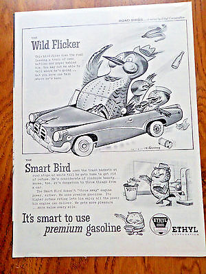1955 Ethyl Gasoline Ad  The Smart Bird