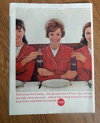 1963 Coke Coca-Cola Ad   Refreshing New Feeling
