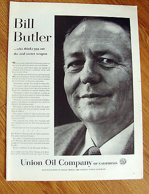 1958 Union Oil 76 Ad  Bill Butler Manager