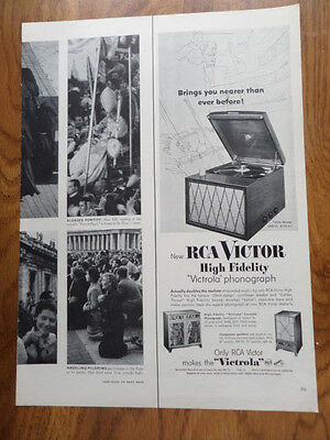1954 RCA Victor High Fidelity Victrola Phonograph Ad