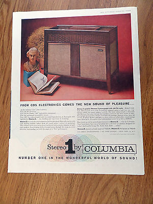 1959 CBS Electronics Ad  Stereo 1 by Columbia