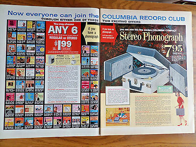1963 Columbia Record Stereo Phonograph Ad