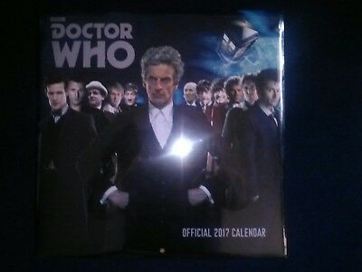 Doctor Who Classic Official 2018 Square Wall Calendar Brand New