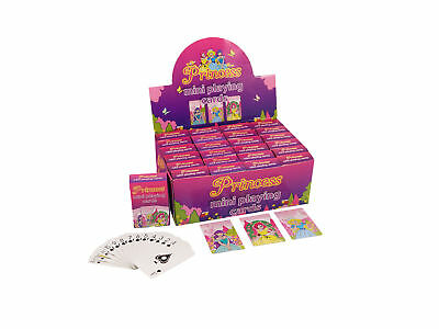 JOB LOT of 480 Packs of Mini PRINCESS PLAYING CARDS Wholesale Bulk Buy Party Toy
