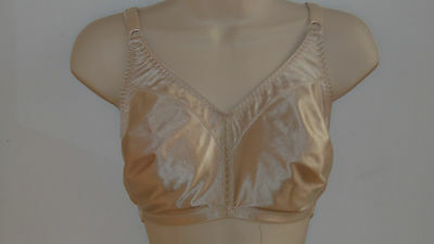 "REDUCED 2.00=Bra Pre-Owned ""Pink"" Wire Free Shiny Wire On Side-Big Bra Full Size"