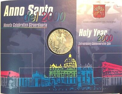 Vatican 2000 Silver Coin 2000 £ Lire Holy Year His Holiness Pope John Paul II