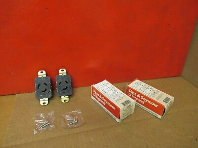 (2) Pass & Seymour Turnlok Receptacle L1020-R 20A A Amps 125/250V Volts Lot Of 2