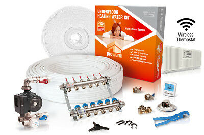 ProWarm multiple room water underfloor heating kit - all sizes in this listing