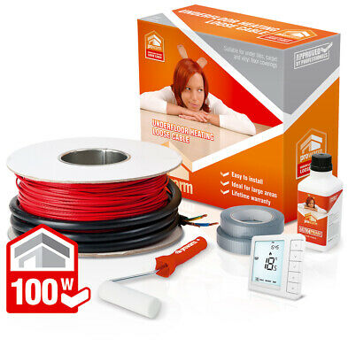 ProWarm underfloor heating 100w loose cable kit - All sizes in this listing
