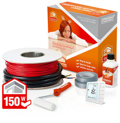 ProWarm underfloor heating 150w loose cable kit - All sizes in this listing