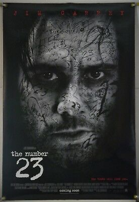 The Number 23 Ds Rolled Orig 1Sh Movie Poster Jim Carrey Virginia Madsen (2007)