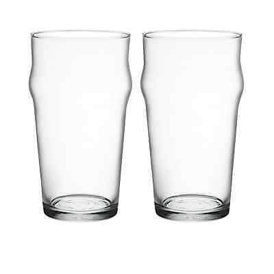 NEW Bormioli Rocco Nonix Pint Glass 580ml Set of 2