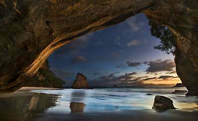 WALL MURAL PHOTO WALLPAPER XXL Cathedral Cove New Zealand Archway Beach (1X-1840