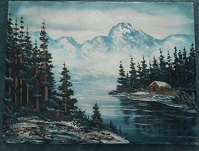 Landscape  By Swenson, Original Oil Painting On Canvas , Signed, Unframed 18X24""