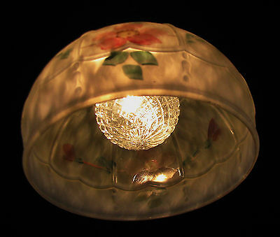Art Deco Antique Pendant Swag Glass Shade Slip Ceiling Light Fixture Chandelier