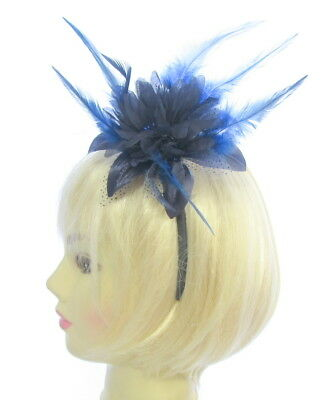 Navy blue tonal fascinator,  headband for Ascot , Races, Weddings, Ladies Day