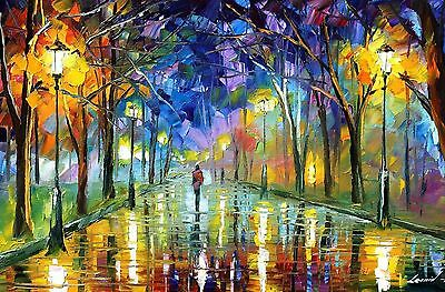 STUNNING OIL PAINTING PARK PICTURE  CANVAS  WALL ART LARGE 20x30""