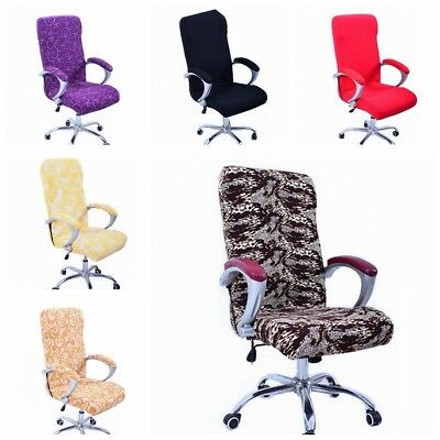 Swivel Computer Chair Cover Stretch Office Armchair Protector Seat Decorat New