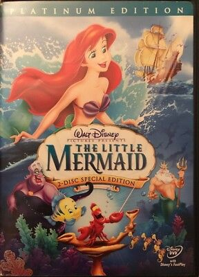 The Little Mermaid (Disney Platinum Edition DVD, 2006, 2-Disc Set)