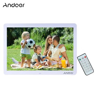 Andoer HD LED Digital Photo Frame Picture Scroll MP3/4 Movie Player Remote G8K5