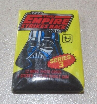 """1980 Topps """"The Empire Strikes Back - Series 3"""" - Wax Pack (Collecting Box Var)"""