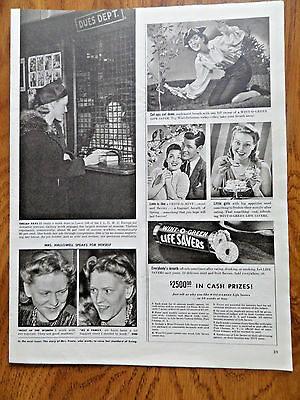 1941 Life Savers Candy Ad  Wint O Green