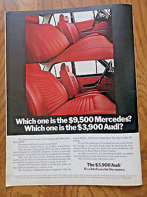 1973 Audi 100LS Ad  Interior Audi VS Mercedes