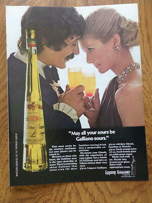 1972 Liquore Galliano Ad May all Your Sours be Galliano Sours