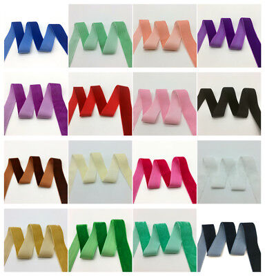 "3 yards 1""(25mm)Wide Velvet Ribbon Headband Clips Bow Decoration U Pick color"