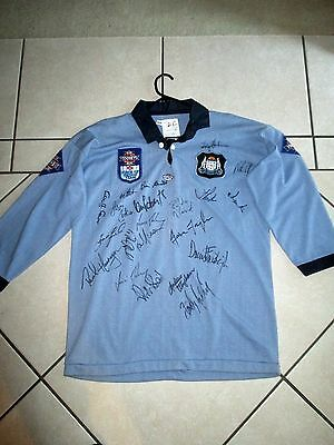 State Of Origin -N.s.w. Blues 1993 Team - Signed Jersey