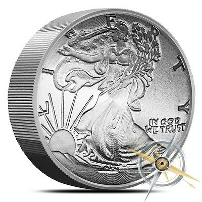 "5 OZ.Walking Liberty ""999 Fine Magnesium"" Round"