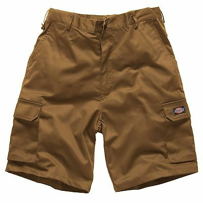 Dickies Redhawk Cotton Mechanics Cargo Shorts In Khaki Brown - Size 40