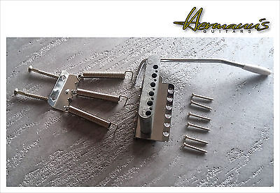Vintage Stratocaster Guitar Bridge, Steel Saddles, Guitar Tremolo, Zinkblock