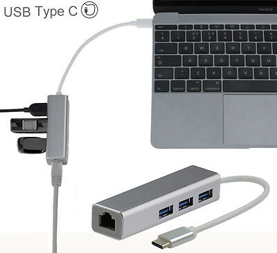 Broonel USB Type C Ethernet / Lan Adapter For Macbook Pro 13 with T.. CTL-AC NEW