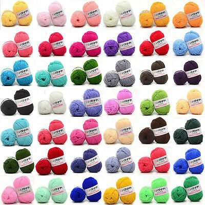 CHIC 46 colors Soft Cotton Bamboo Crochet Knitting Yarn Baby Knit Wool Yarn