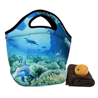 Thermal Cooler Insulated Lunch Bag Picnic Carry Neoprene Tote Storage Bag B