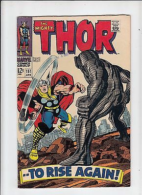 The Mighty Thor #151 Fine Destroyer!  Kirby! (Marvel 1968)