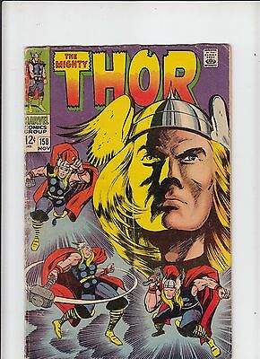 The Mighty Thor #158 G/VG Kirby!  (Marvel 1968)